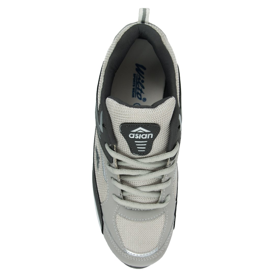 ASIAN SHOES Future-01 Mens Light Grey Dark Grey Sport Shoe-9Uk image 1