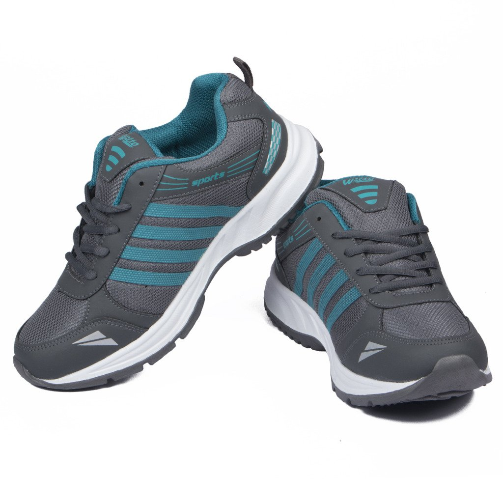 Asian shoes Wonder 13 Grey Firozi Mens Sports Shoes 11 UK/Indian image 1
