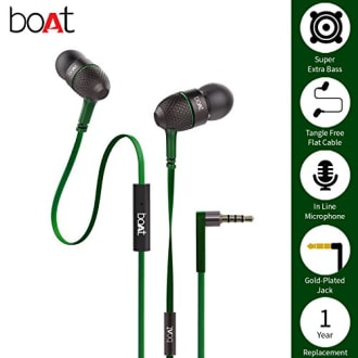 Boat Bass Heads 225 In-Ear Headphones with Mic  image 2
