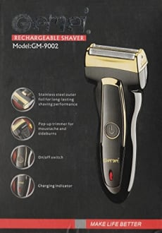 Gemei GM-9002 Rechargeable Shaver  image 4
