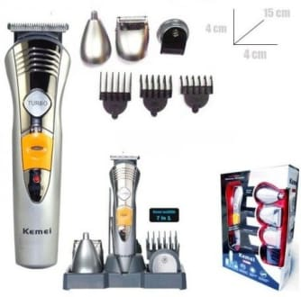 Kemei KM-580A 7 in 1 Rechargeable Grooming Kit Trimmer  image 5