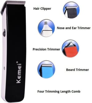Kemei KM 3580 Trimmer With Grooming Kit  image 3