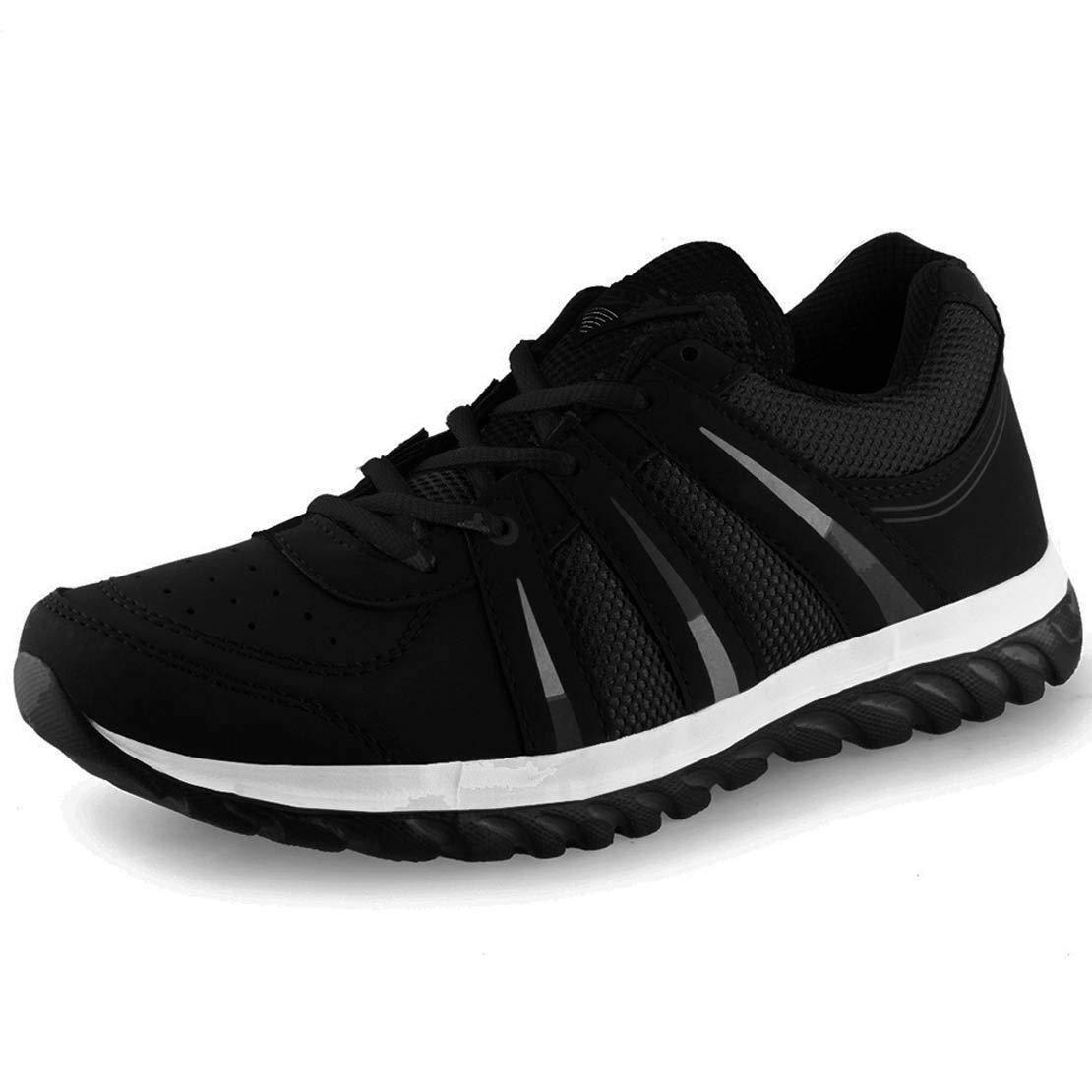 Lancer Mens Black Sports Running Shoes LCR-INDUSBLK-43 image 1