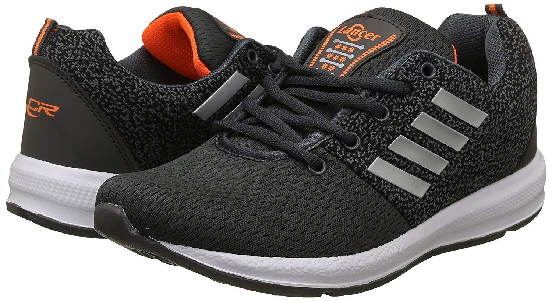 Lancer Mens Grey,Orange Running Shoes-9 UK/India (43 EU)(INDUS-12DGR-ORG-9) image 1