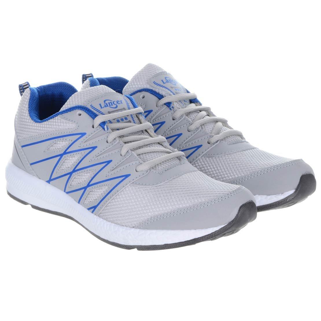 Lancer Mens Sports Shoe Grey Blue Mesh 8 UK image 1