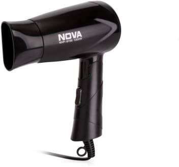 Nova NHP 8100 Silky Shine 1200 W Hot And Cold Foldable NHP 8100 Hair Dryer  image 1