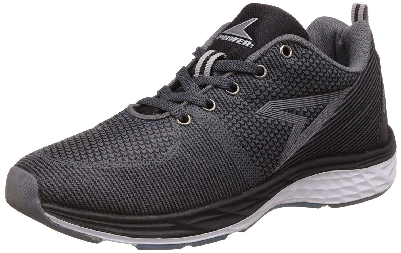POWER Mens Byron Black Running Shoes - 8 UK/India (42 EU)(8396015) image 1