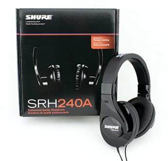 Shure SRH240A Over the Ear Headphones  image 4