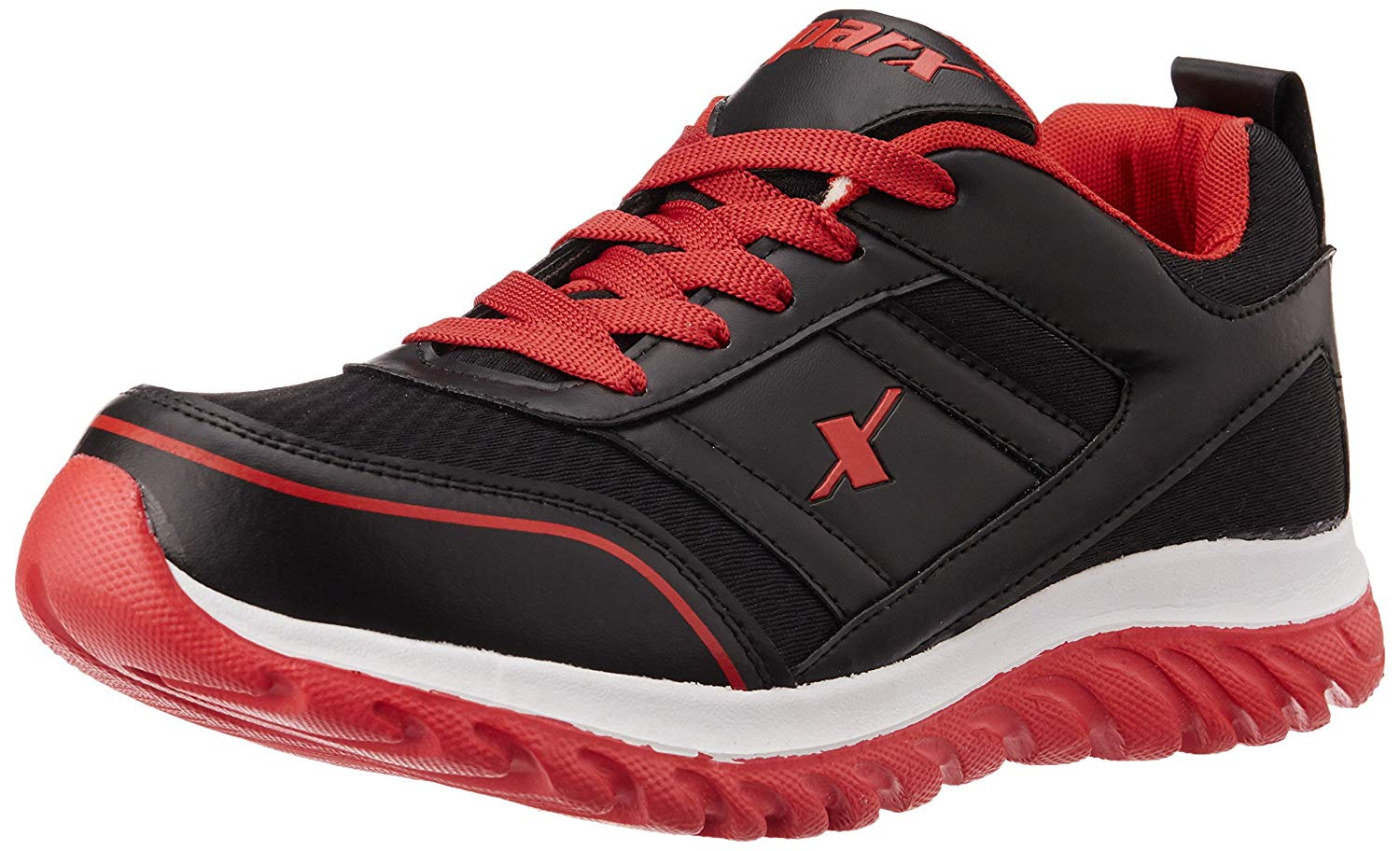 SPARX Mens Black and Red Running Shoes -9 UK image 1