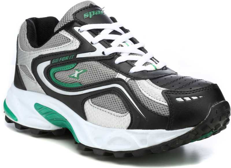 Sparx Running Shoes For Men(Black, Green) image 1