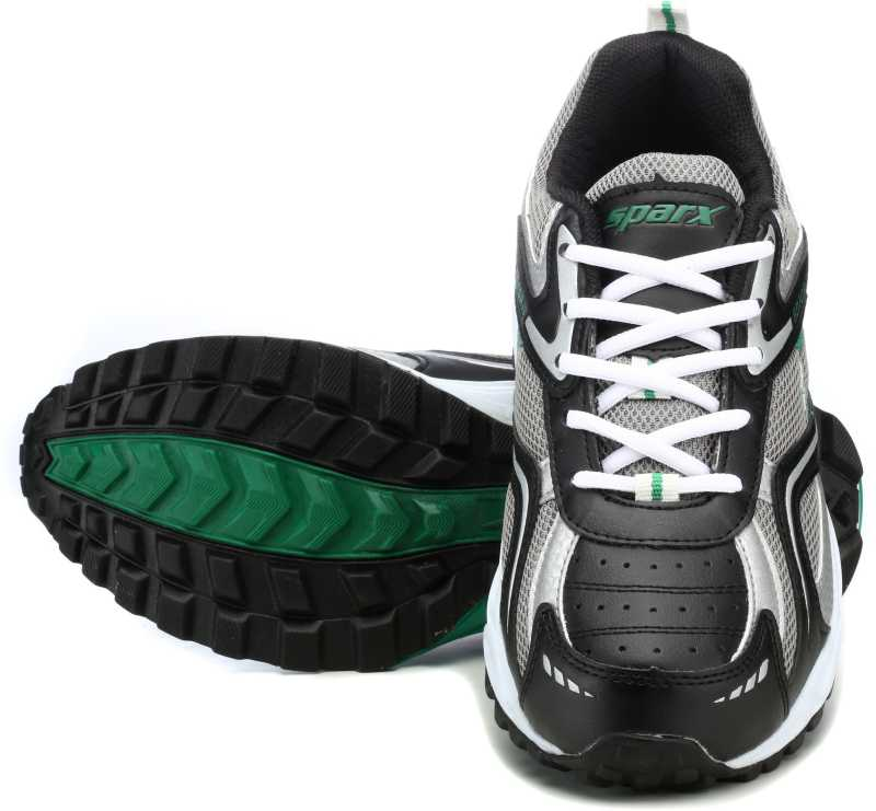 Sparx Running Shoes For Men(Black, Green) image 2