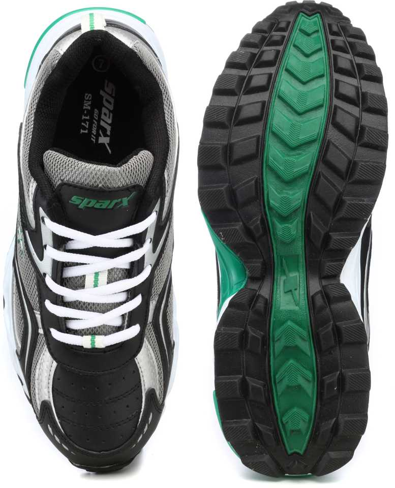 Sparx Running Shoes For Men(Black, Green) image 5