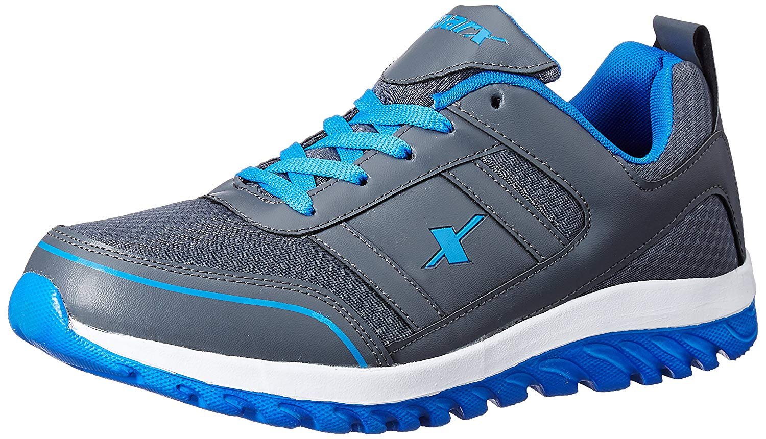 SPARX Trendy Grey Blue Running Shoes image 1