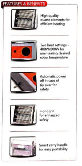 Sunflame SF 941 Halogen 800 W Room Heater image 3