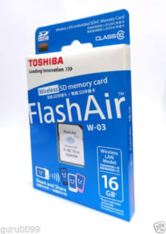 Toshiba FlashAir SDHC Class 10 16GB Wireless SD Card