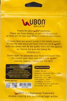 UBON GP-321Champ In the Ear Headphones  image 3