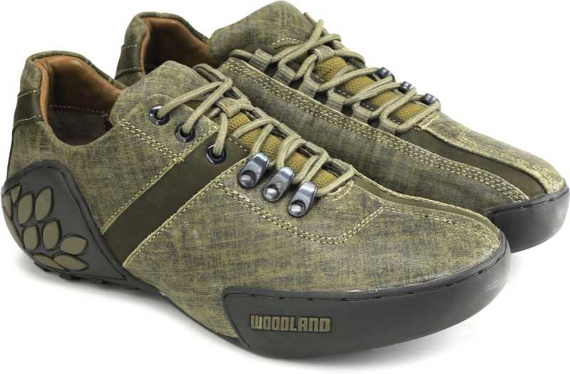 Woodland Men Outdoor Shoes For Men(Brown, Green) image 1
