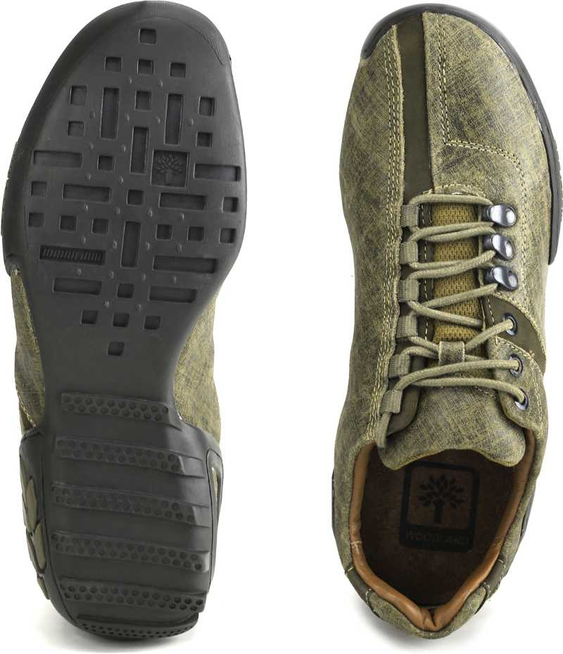 Woodland Men Outdoor Shoes For Men(Brown, Green) image 3